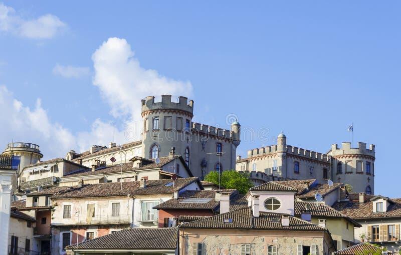 Wiew Costigliole d'Asti obraz royalty free