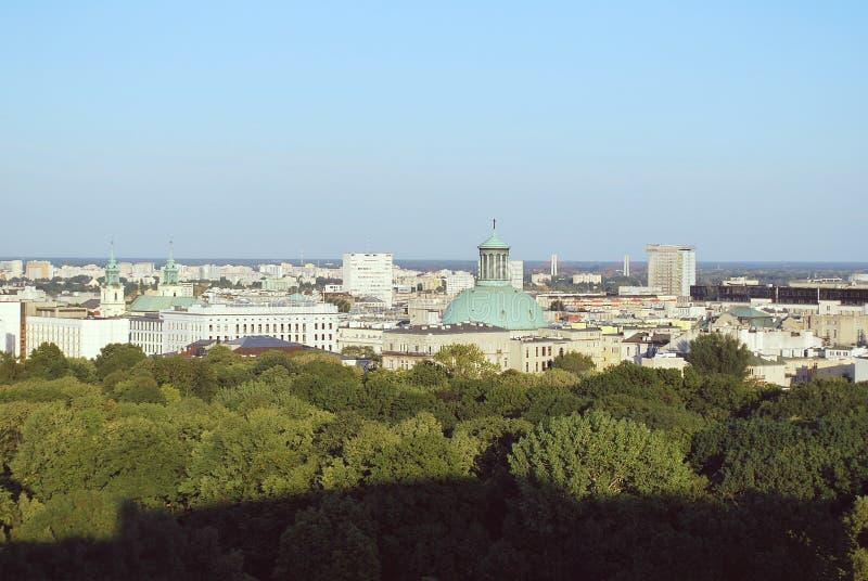 Wiew di Varsavia fotografia stock libera da diritti