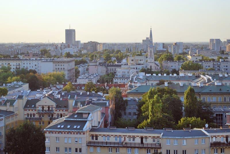 Wiew di Varsavia immagine stock libera da diritti