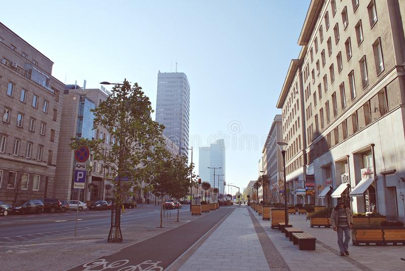 Wiew di Varsavia fotografia stock