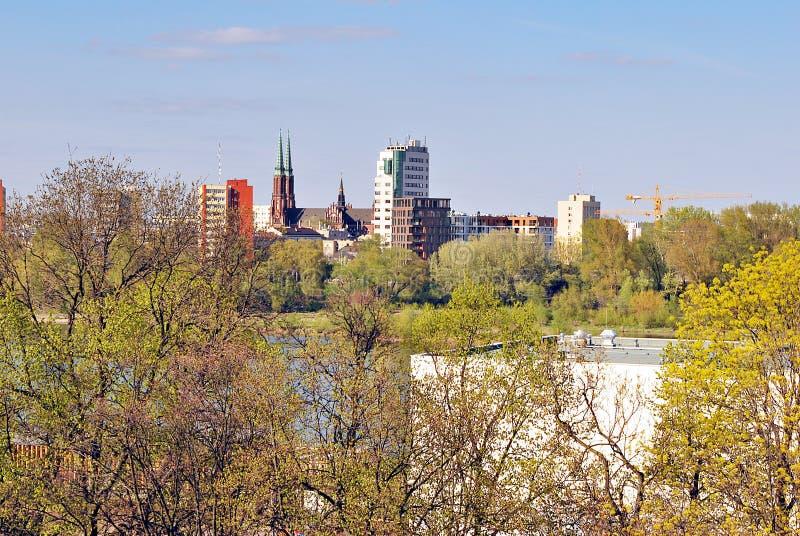 Wiew di Varsavia immagini stock