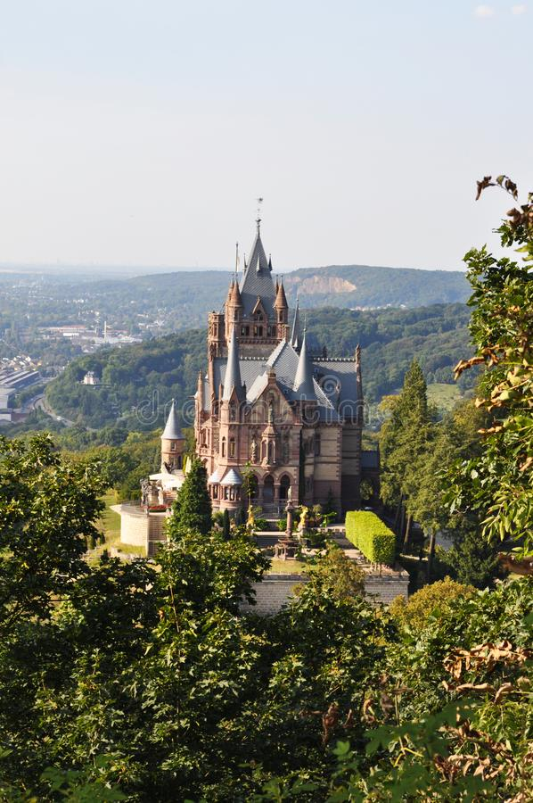 A wiew of Drahenburg castle, Germany. stock photography