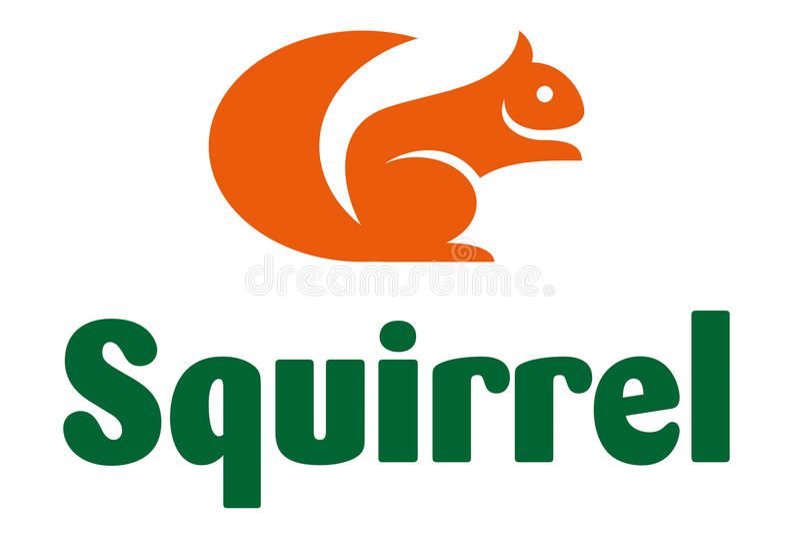 Wiewiórczy logo royalty ilustracja
