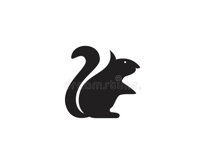 Wiewiórczy zwierzę logo i symbolu szablonu ikony app ilustracja wektor