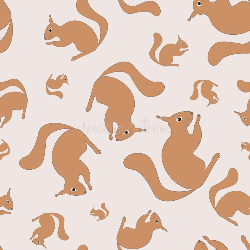 wiewiórka bezszwowa wzoru ilustracja wektor