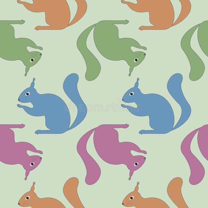 wiewiórka bezszwowa wzoru royalty ilustracja