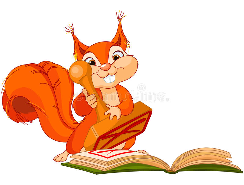 Wiewiórka z znaczkiem ilustracji