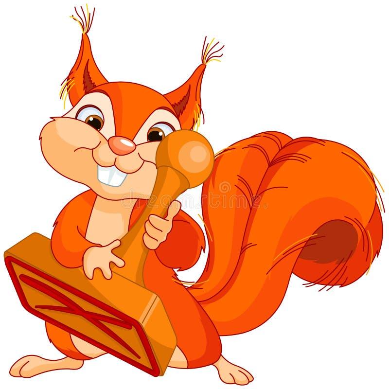 Wiewiórka z znaczkiem ilustracja wektor