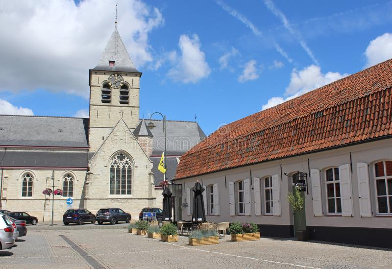 Wiezeplein östliga Flanders, Belgien arkivbilder