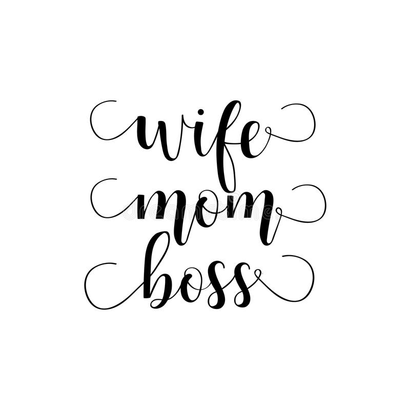 Wife mom boss lettering mothers day hand lettering for greeting boss lettering mothers day hand lettering for m4hsunfo