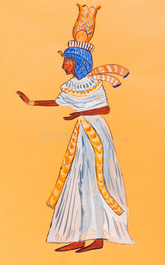 Download Wife Of Pharaoh Of Ancient Egypt Stock Illustration - Image: 31888526