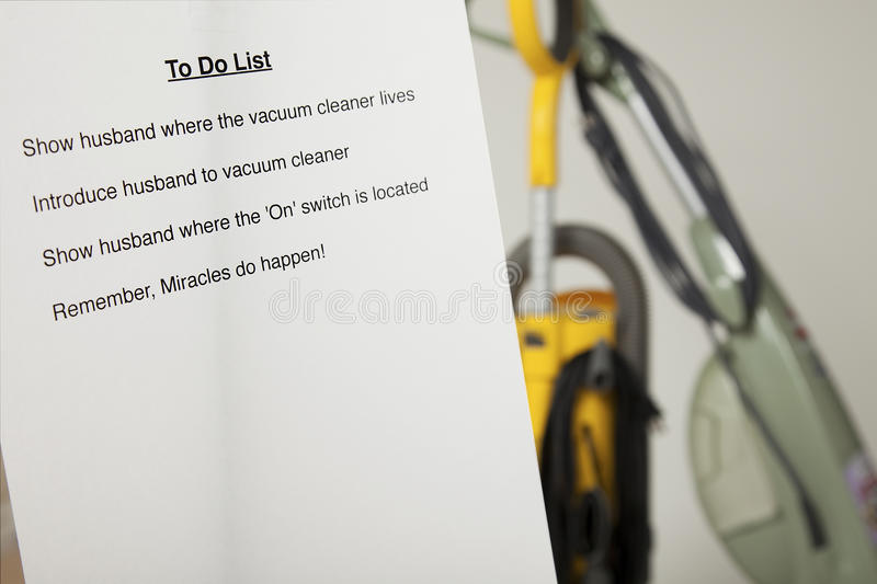 Download Wife's to do list stock image. Image of wives, husband - 13291173