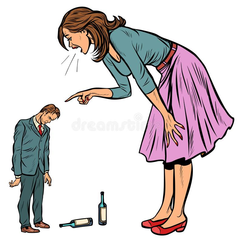 A drunk is wife Giving Up