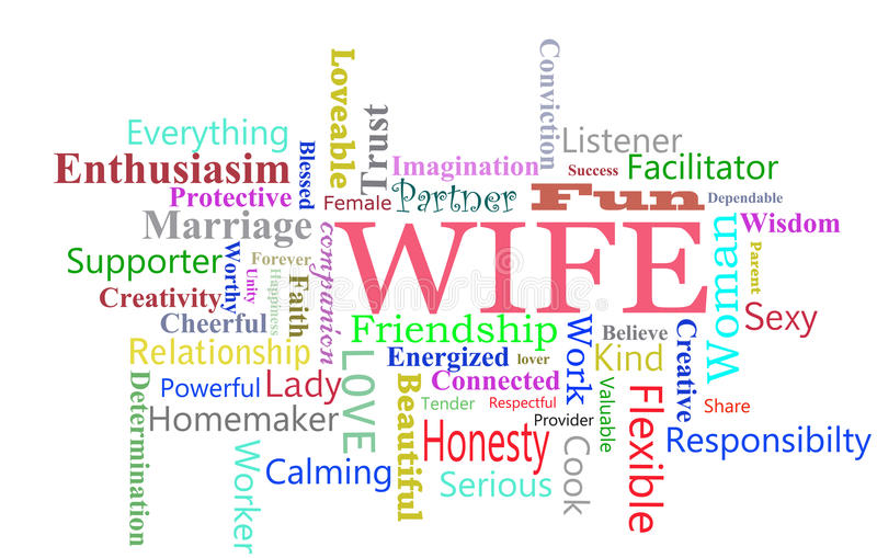 Wife Word Cloud Stock Image