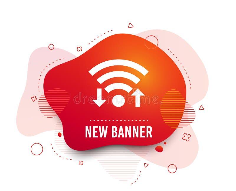 Wifi信号标志 Wi-Fi加载,下载标志 ?? 向量例证