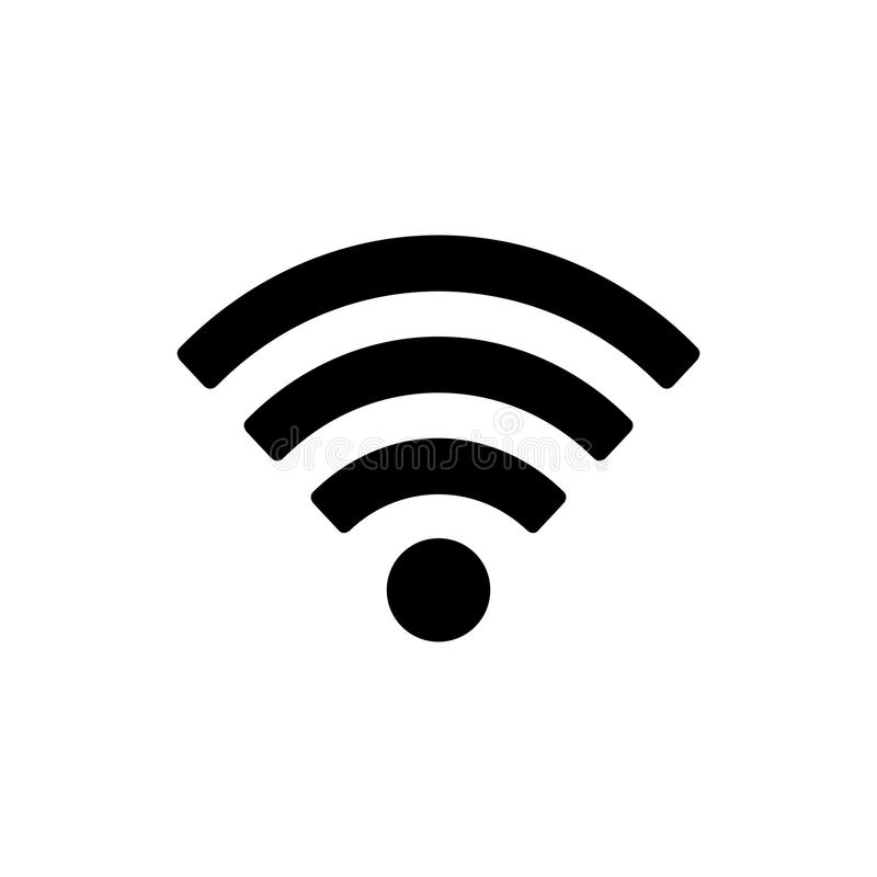 Wifi图标 皇族释放例证