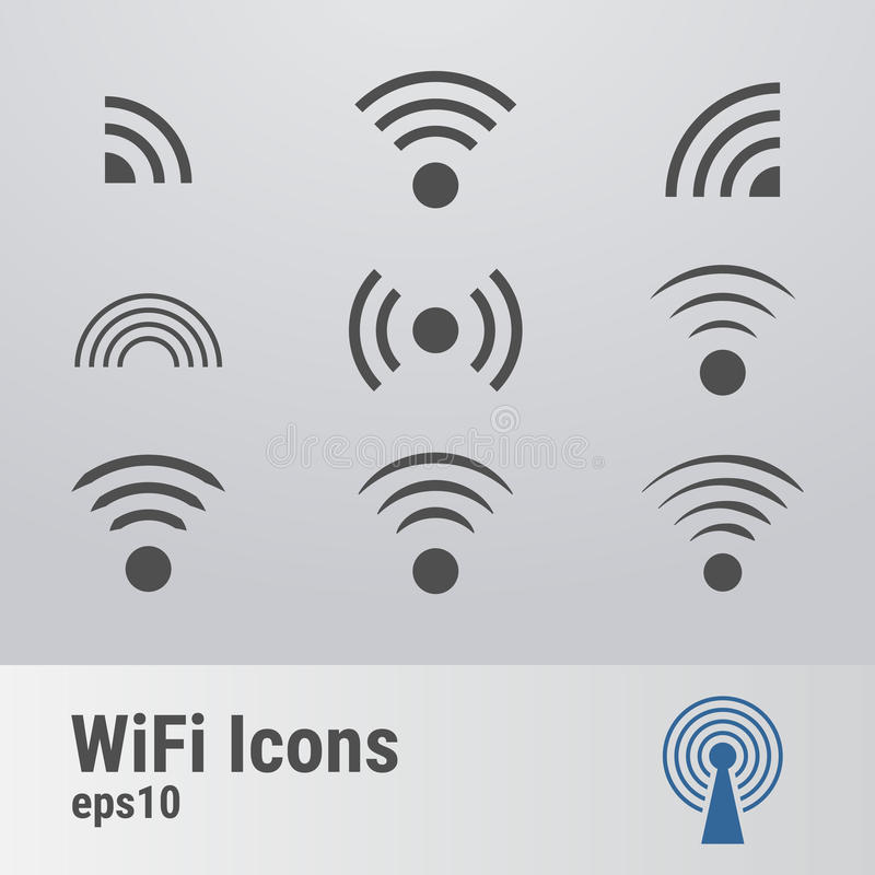 Wifi图标 向量例证