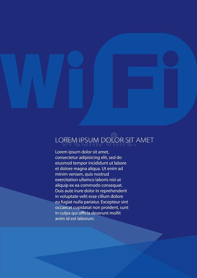 WiFI模板布局,盖子设计 向量例证