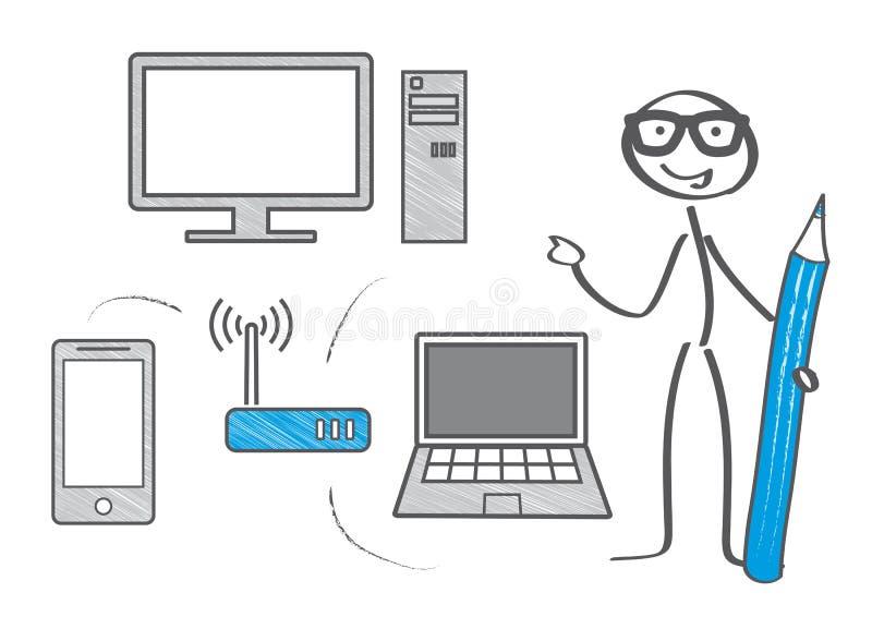 Wifi网络例证 向量例证