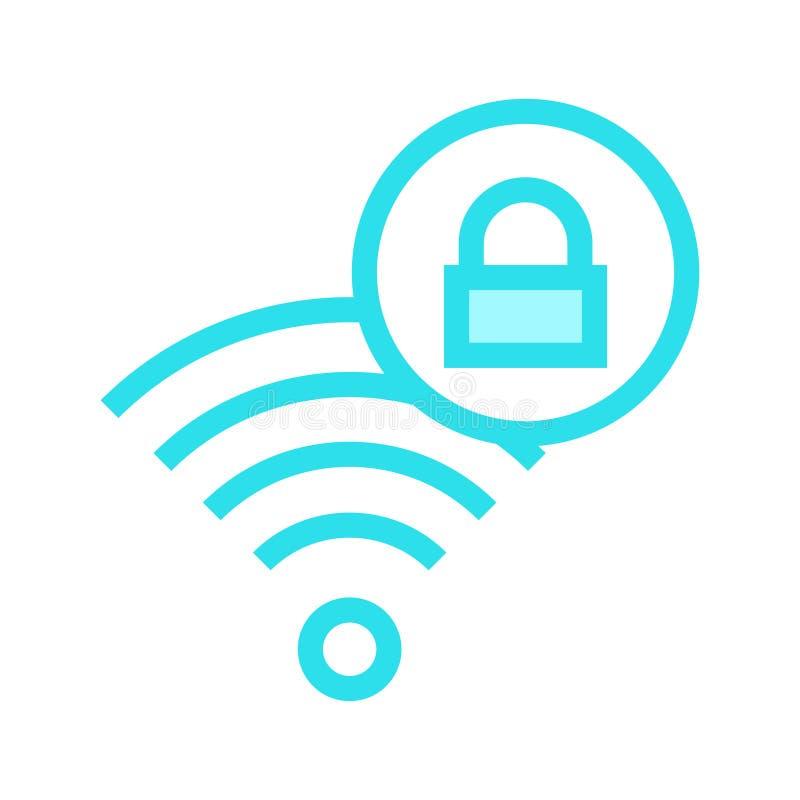 Wifi锁种族分界线象 皇族释放例证