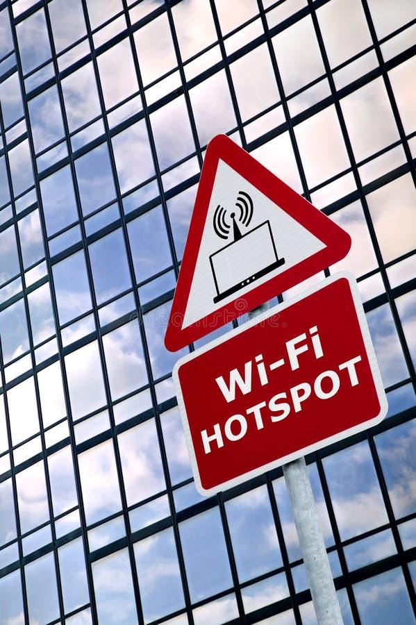 wifi знака очага военной напряженности стоковая фотография