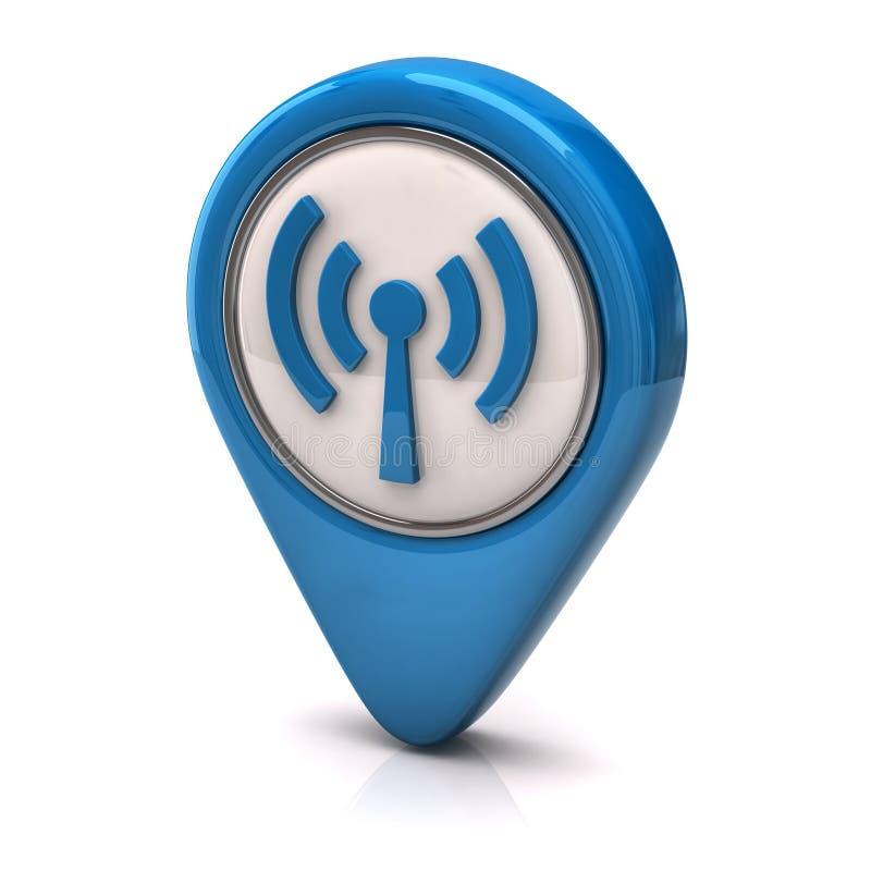 wifi иконы иллюстрация вектора