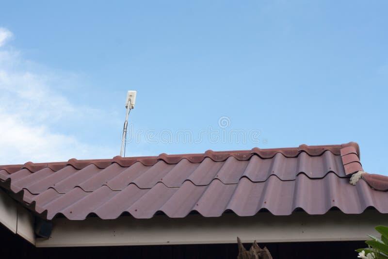 Wifi интернета на крыше стоковая фотография
