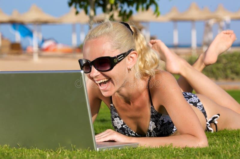 wifi пляжа стоковая фотография