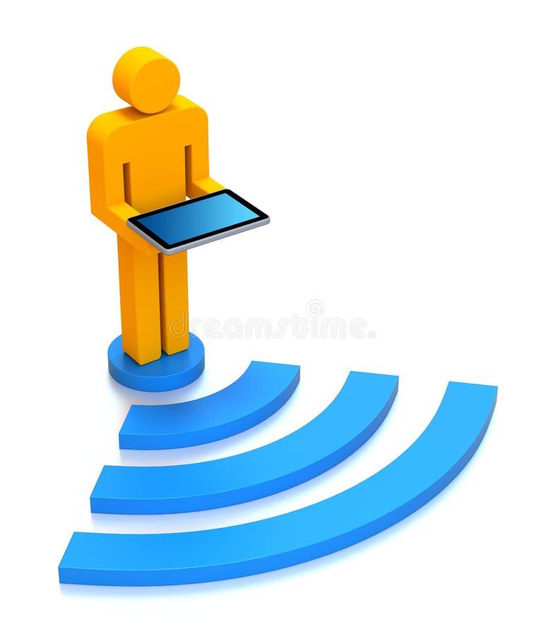 wifi принципиальной схемы иллюстрация штока