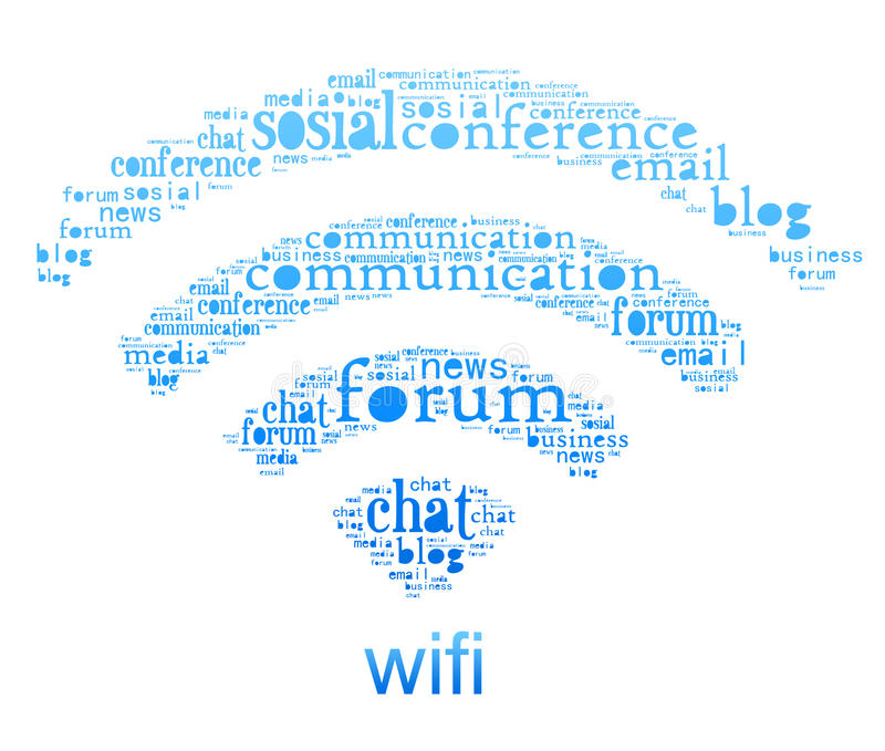 wifi символа стоковая фотография
