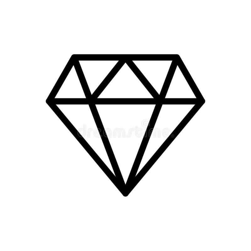 Diamond line icon vector illustration