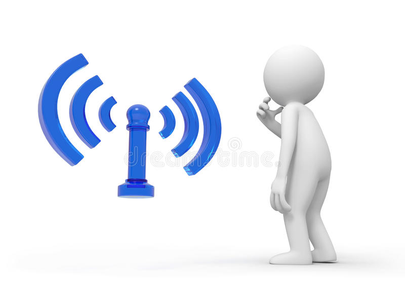 Wifi royalty-vrije illustratie