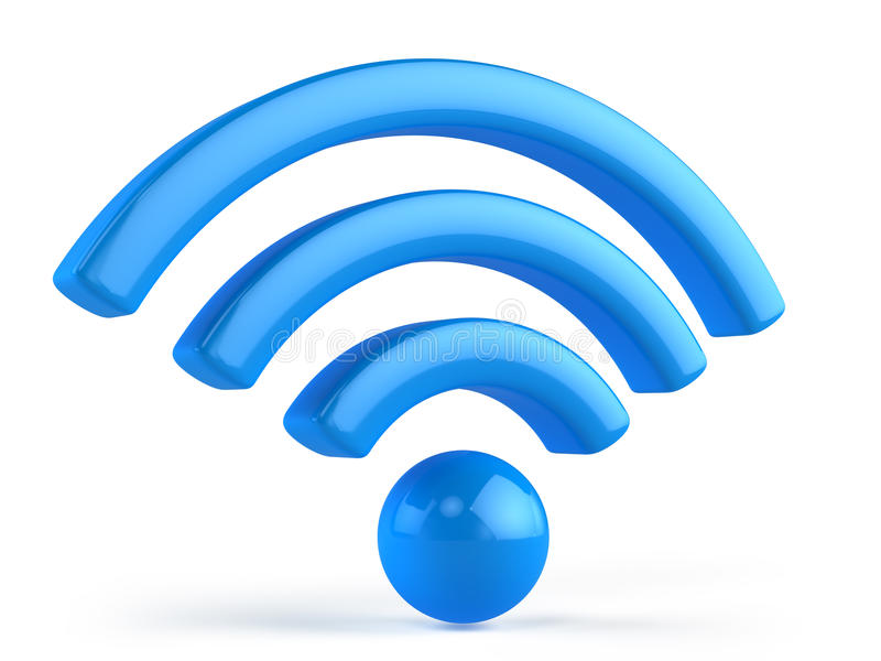 Wifi 3d symbol vektor illustrationer