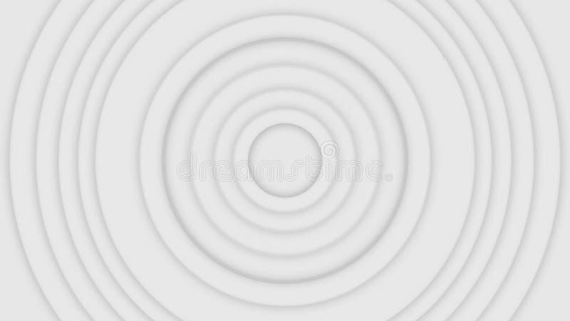 Wifi abstrait ou boucle sans couture blanche et grise de fond d'ondes radio, animation Le beau cercle gris encadre la palpitation illustration libre de droits