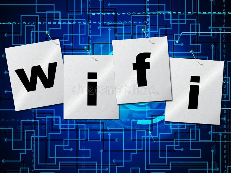Wifi anslutning föreställer rengöringsduktillträde och direktanslutet vektor illustrationer
