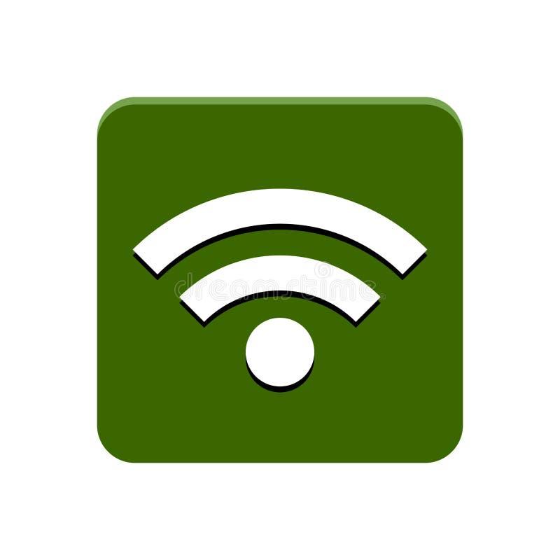 Wifi APP-Knopf vektor abbildung