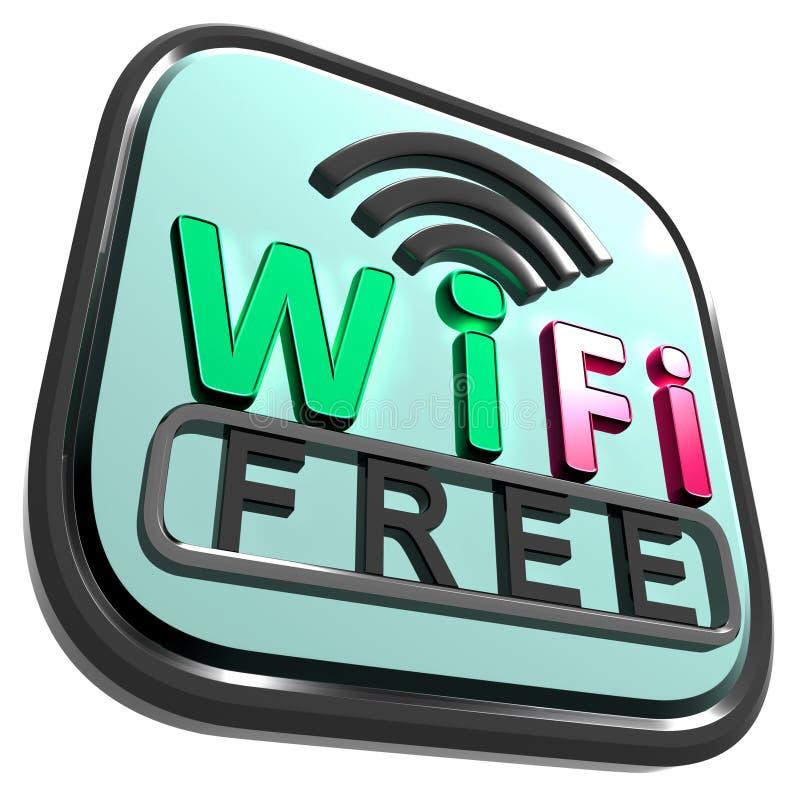 Wifi Bezpłatny internet Pokazuje radio royalty ilustracja