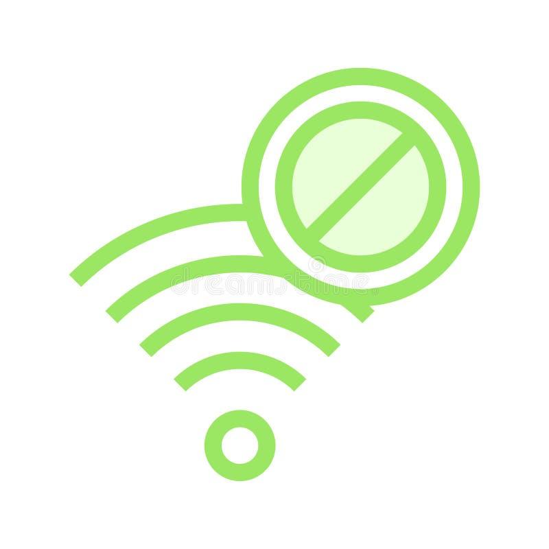 Wifi-Block-Farblinieikone lizenzfreie abbildung