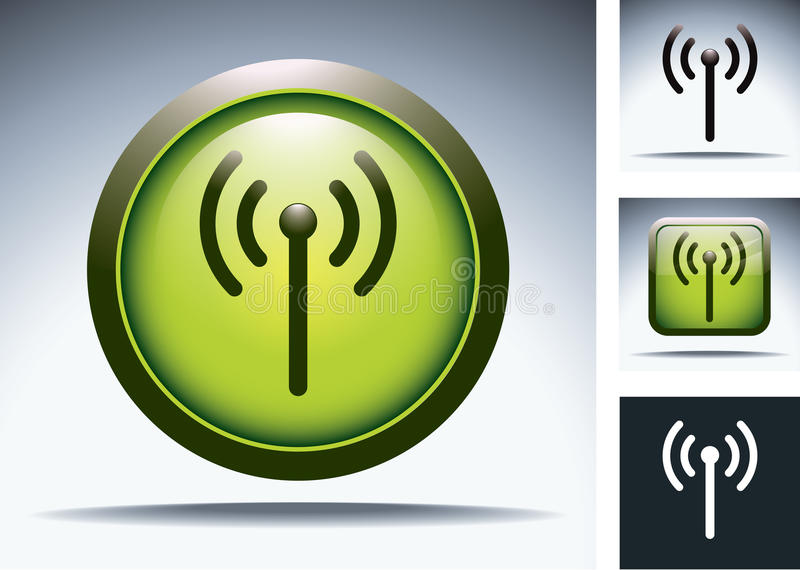 Download Wifi Button Set Royalty Free Stock Photography - Image: 22999347