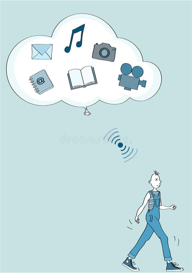 WiFi chmura royalty ilustracja