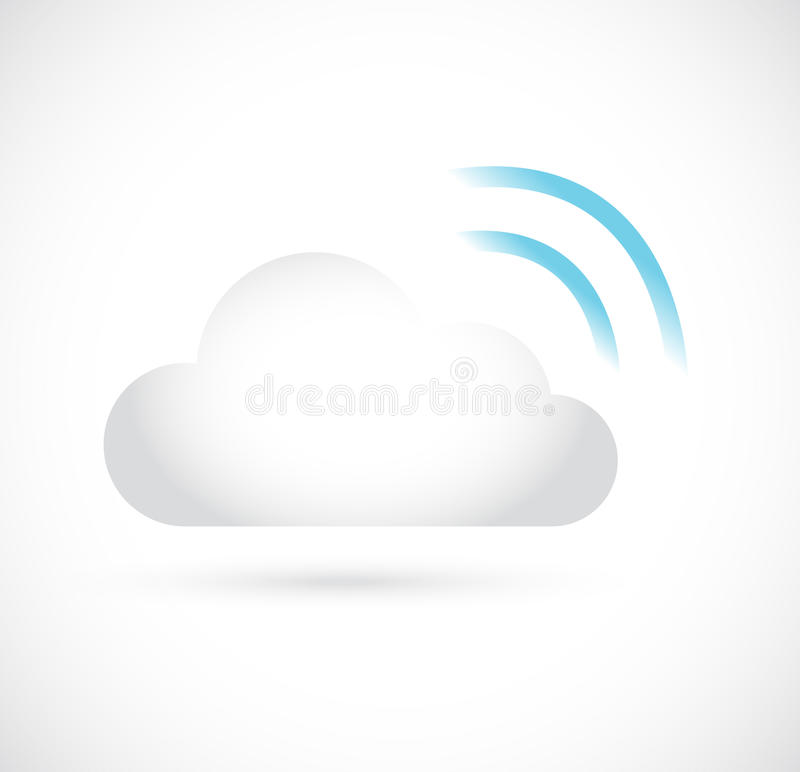 Wifi chmura oblicza składową serwer ilustrację royalty ilustracja