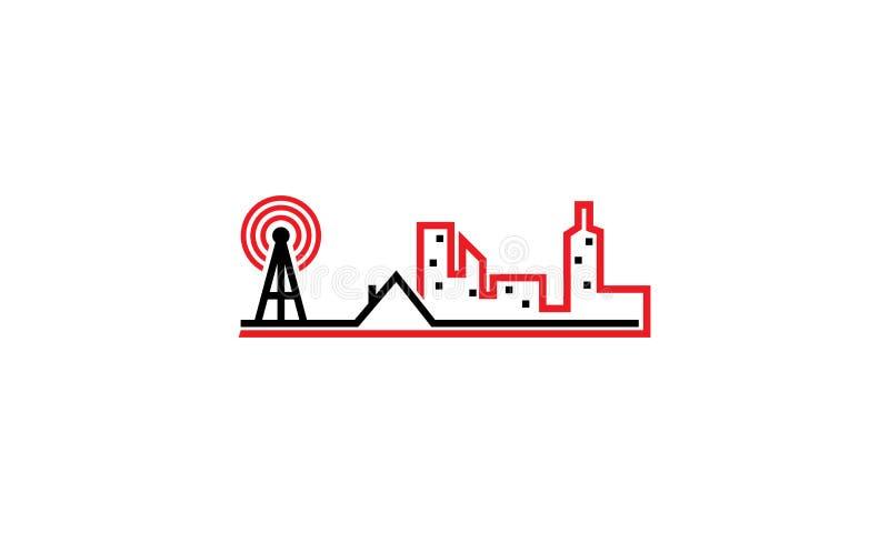 WIFI CITY HOME. Logo Design Template Vector stock illustration