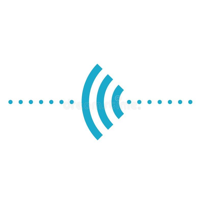Wifi con frecuencia puntea el logotipo de los iconos del elemento stock de ilustración