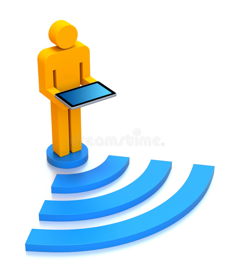 Download WiFi concept stock illustration. Image of concept, shape - 21386272