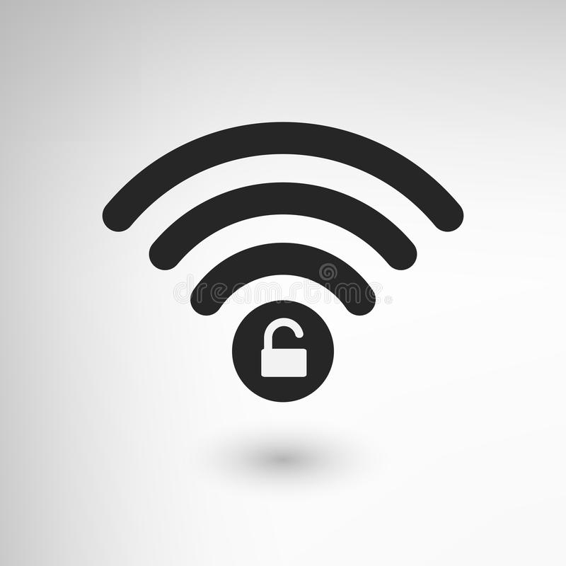 WiFi creativo se cerró libre illustration