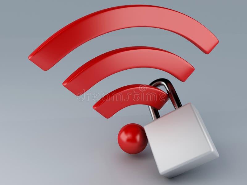 Wifi de sécurité. concept d'Internet illustration de vecteur
