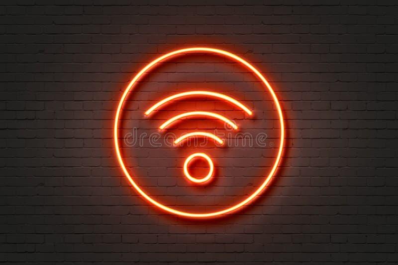 Wifi dell'icona della luce al neon royalty illustrazione gratis