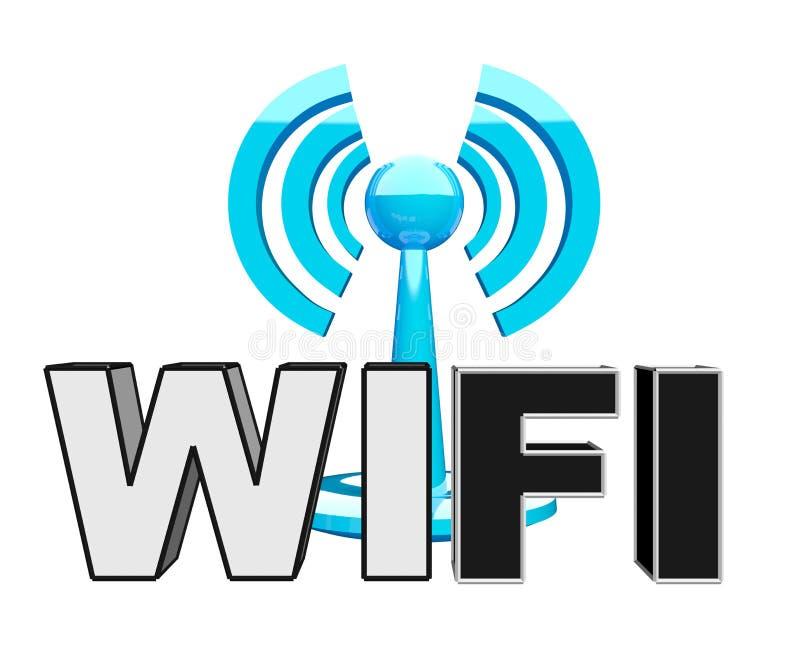Wifi (drahtlose) blaue moderne Ikone