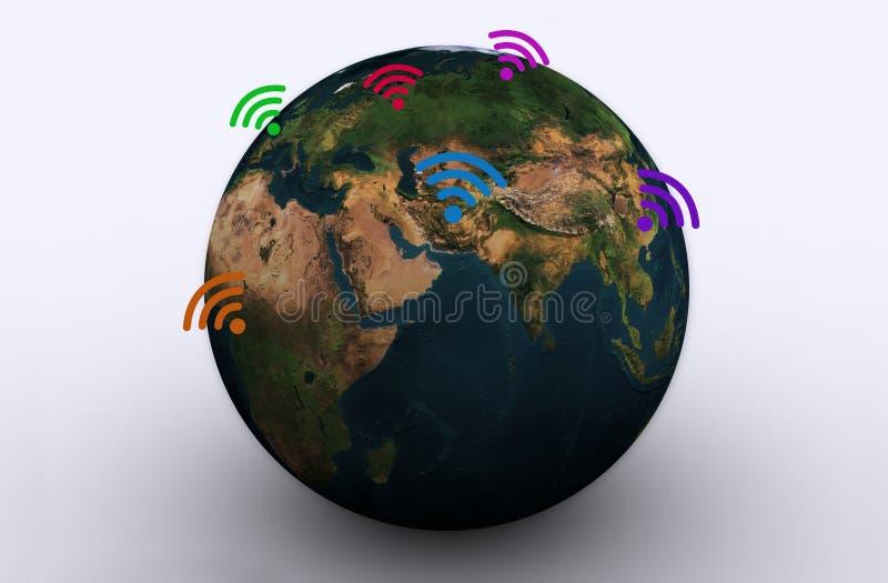 WIFI em torno do mundo foto de stock royalty free