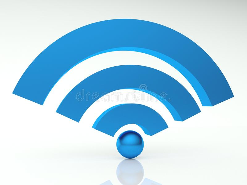 wifi för symbol 3d stock illustrationer
